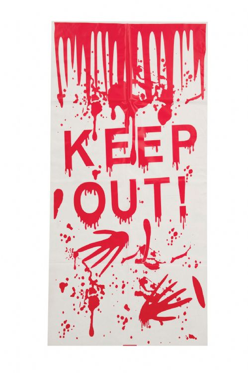 Halloween Halloween Door Cover 'Keep out' Sign Trick Or Treat Party Decoration